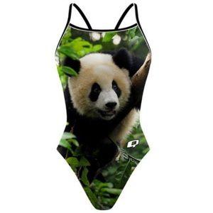 Q Swimwear Panda Bear Tank Swimsuit